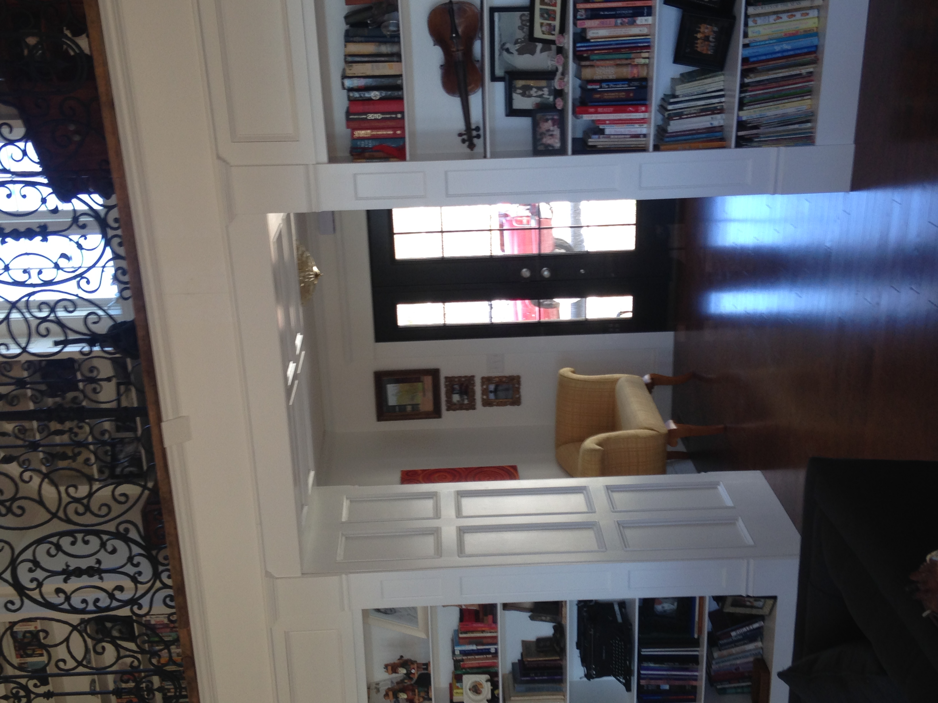 Entryway with White Panel Trim