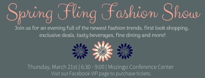 Spring Fling Fashion Show Website Banner