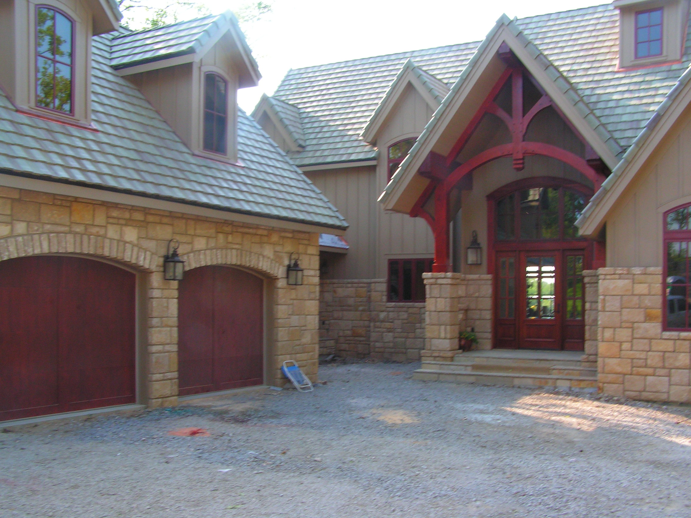 Stone & Decorative Timber Frame Home