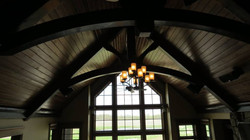 Timber Frame Trusses with Chandelier