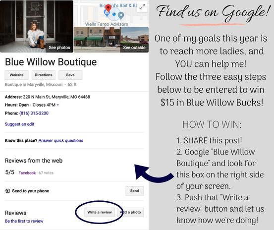 Google Review Facebook Post