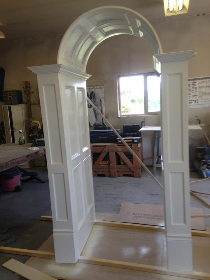 Hallway Panel Trim Construction