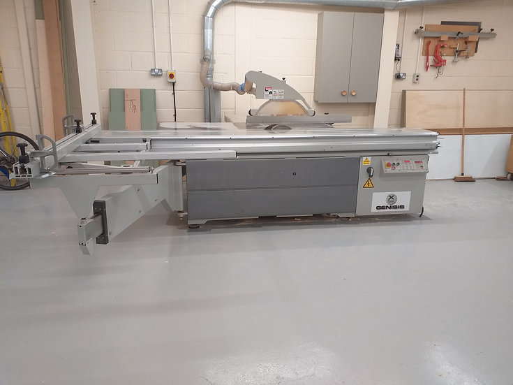 Used Genisis X2 sliding table panel saw