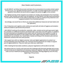 A word from our CNC partners AES during this COVID-19 Crisis.