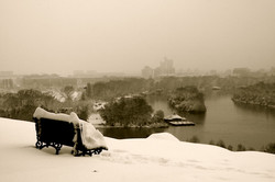 Bench-in-the-snow-view-on-the-River-Donau-Belgrade-Serbia-Deni-Gostl-Photography-DGArt-Creations