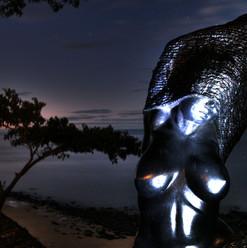 statua-al-tramonto-manga-soa-lodge-madag