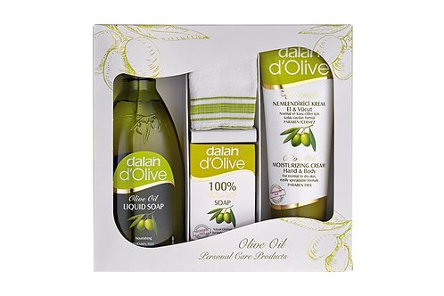 d'Olive Carton Gift Set ( With Turkish Bath Body Scrub Gift )