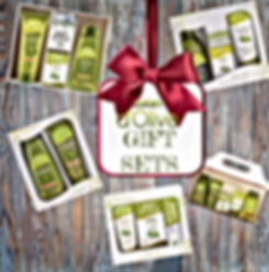 Gift Sets of Dolive products. Give the gift of nature/ olive oil gifts