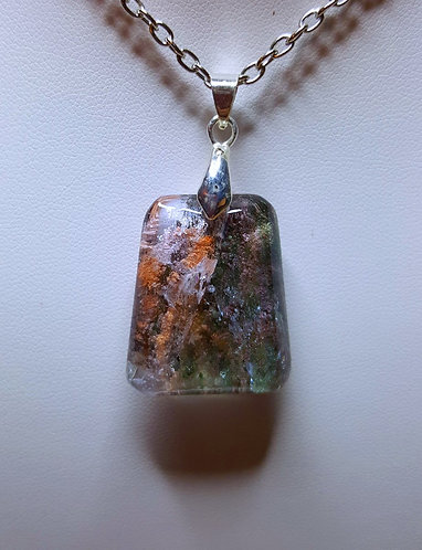 """Rock Formation"" - one of a kind quartz crystal pendant"