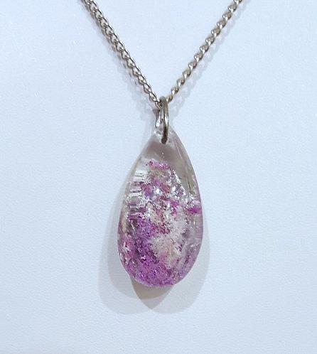 Pretty Purple & White Quartz Crystal Pendant