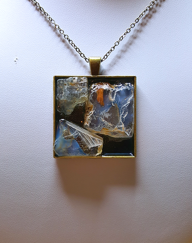 Raw Topaz Pendant - one of a kind