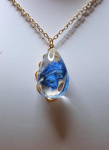 A Wash of Quartz Blue - one of a kind pendant