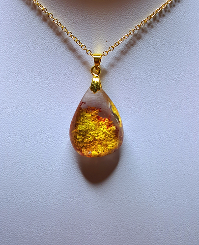 """""""Wildflowers"""" - one of a kind quartz crystal pendant"""