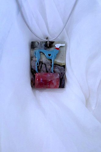 Pedestal for Sighthound - one of a kind necklace