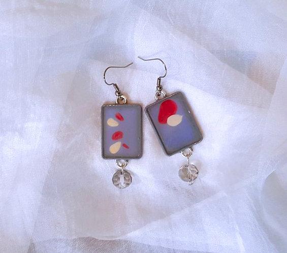 Minimalist Abstract Original Painting Earrings