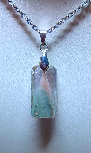 """""""Peak"""" - one of a kind quartz crystal pendant"""