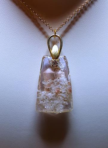 """Cloud Mountain"" - one of a kind quartz crystal pendant"