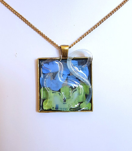 """""""Dream of the Field"""" - one of a kind, handpainted pendant"""