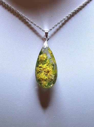 """Buttercups"" - one of a kind quartz crystal pendant"