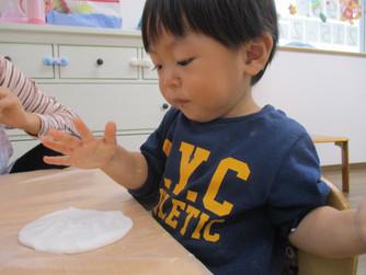 米粉粘土であそびました😊