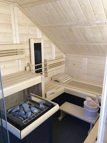 bemberg Sauna in Dachschräge