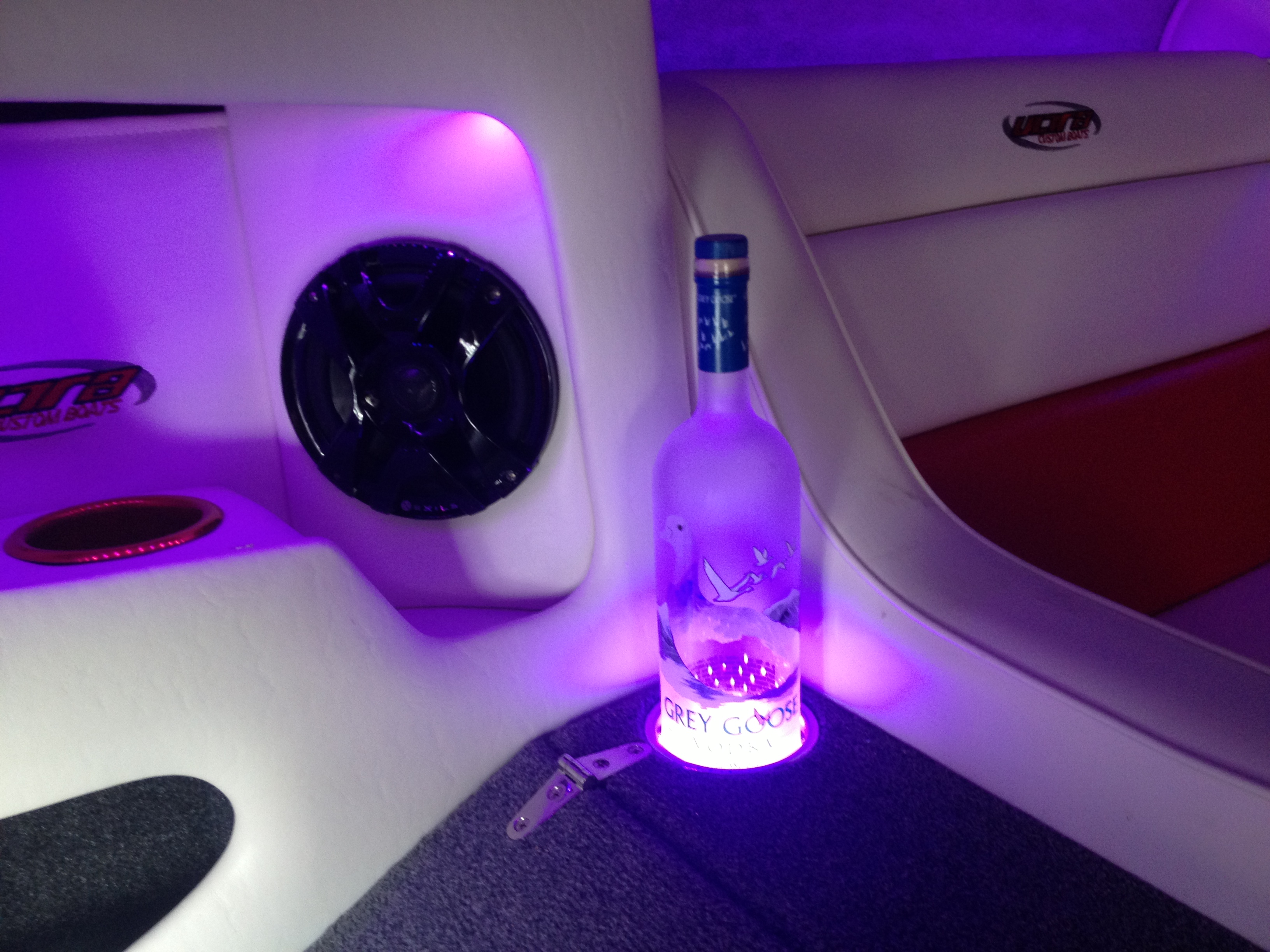 LED Cup holder lighting