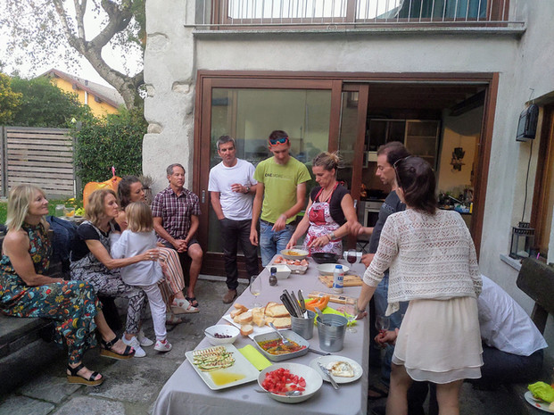 cooking show at Andreas home