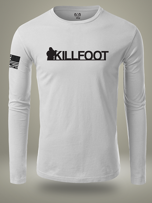 Killfoot Long Sleeve Athletic Fit White