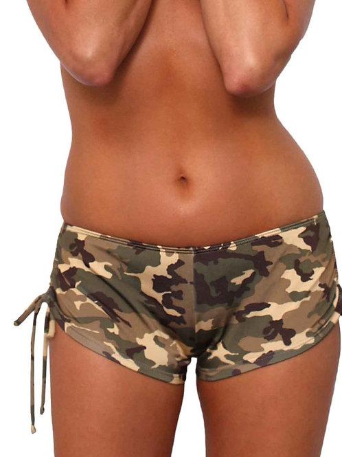 Women's Camo String Shorts Bikini Beach Swimwear