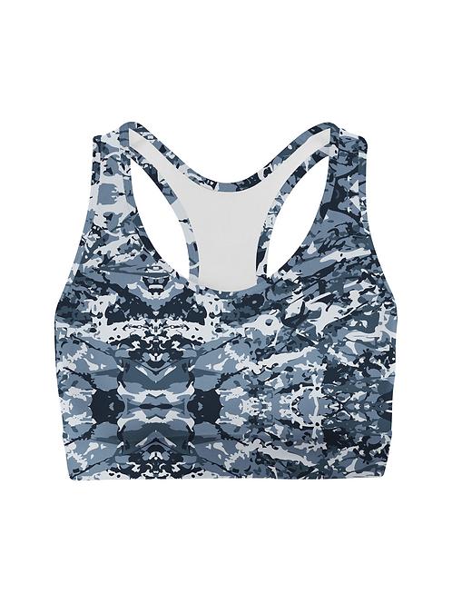 Navy Camo Sports Bra