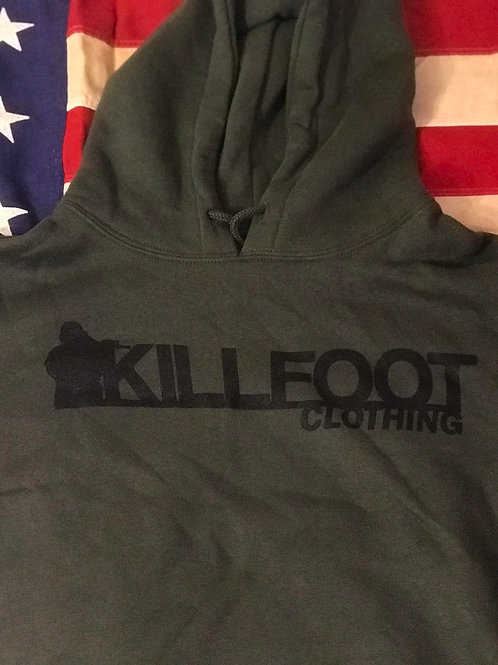 Killfoot Clothing OD Green Hooded Sweatshirt