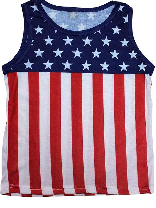 Kids USA Flag Pride Sleeveless Shirt