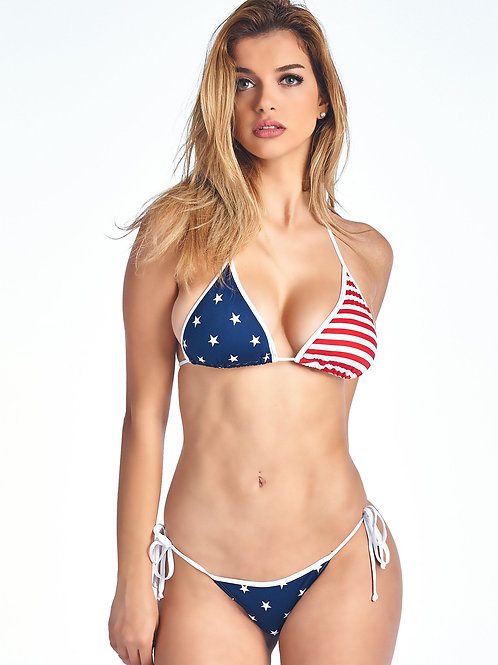 USA Flag Brazilian Cut