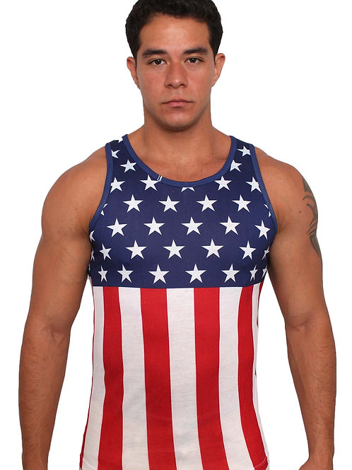 USA Flag Men's Tank Top