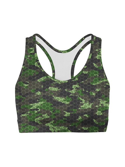 Army Hex Camo Sports Bra