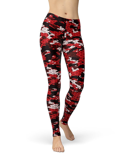 Jean Red Hex Camouflage