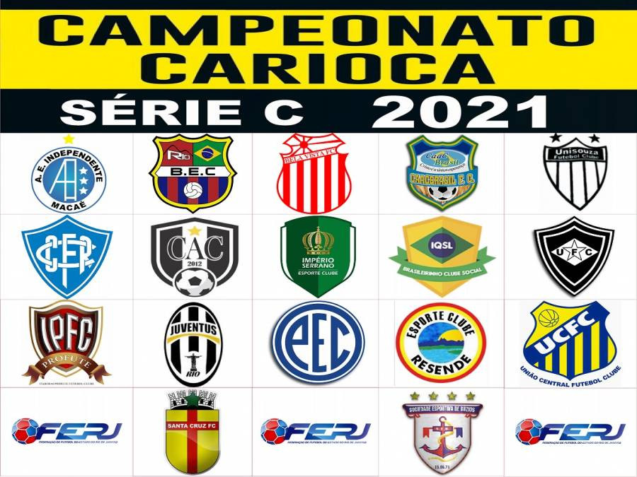 Escudo dos times participantes da Série C do Campeonato Carioca