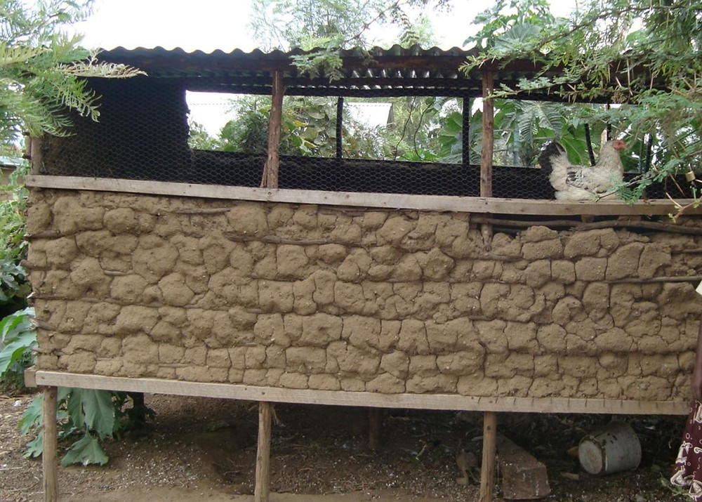 Simple mud Chicken house