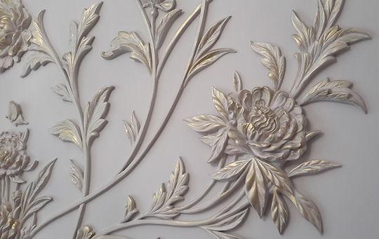 цветочный декор стен