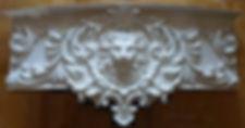 болдахин радиусный карниз из гипса лепнина