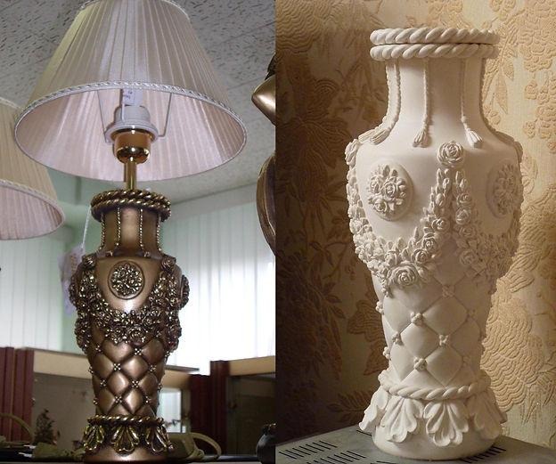 основа для настольной лампы вазы на заказ