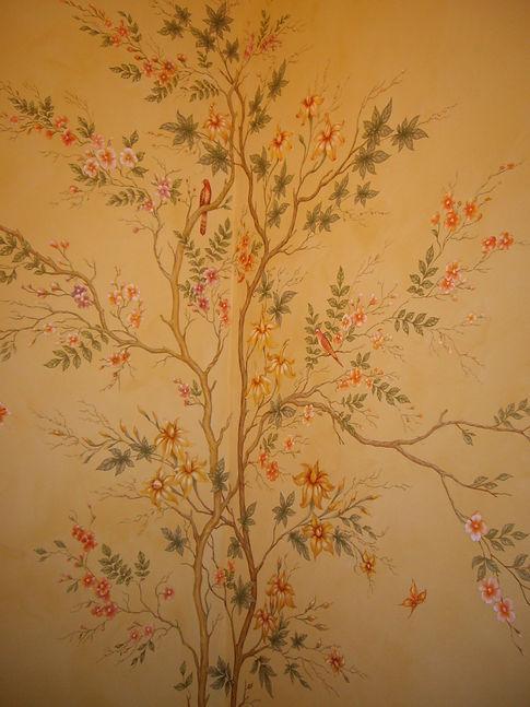 райский сад на стене роспись