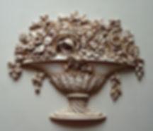 настенный декор орнамент над дверью