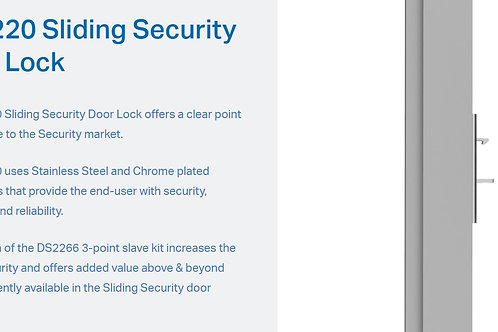 Doric Sliding Security Door Lock