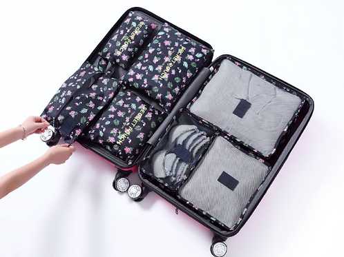 Packing Cubes 2 x Sets + Free Shoe Pouch