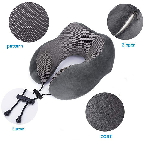 LUXURY MEMORY FOAM TRAVEL PILLOW