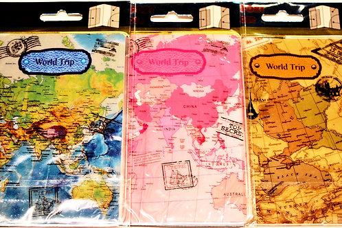 World Map Passport Covers