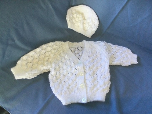ALIX - HAND KNITTED HERITAGE BABY SHAWL - Made in NZ