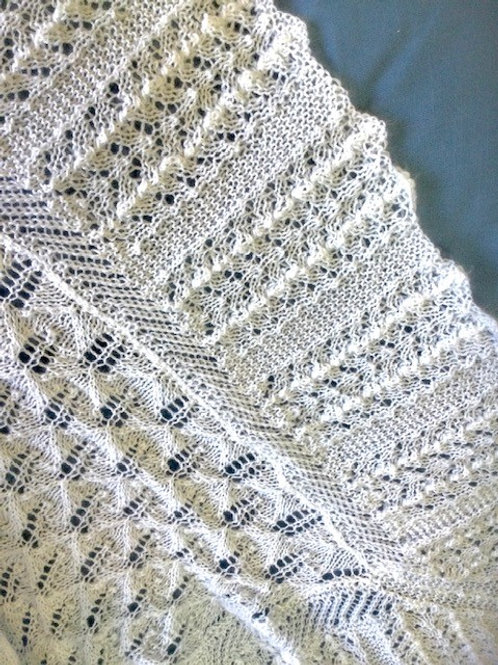 JEANA - HAND KNITTED HERITAGE BABY SHAWL - Made in NZ