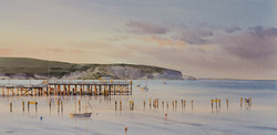 Swanage Pier at Sunset